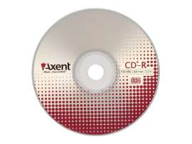 Диск CD-R Axent 700MB/80min 52x Cake (10шт)